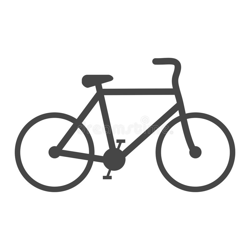 Icône de signe de bicyclette illustration stock