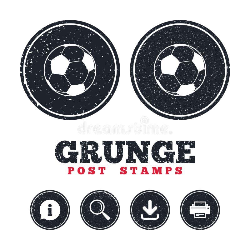Icône de signe de boule du football Symbole de sport du football illustration libre de droits