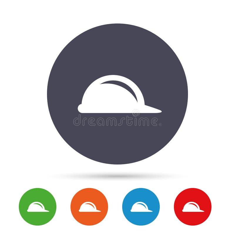 Icône de signe de casque antichoc Symbole de casque de construction illustration libre de droits