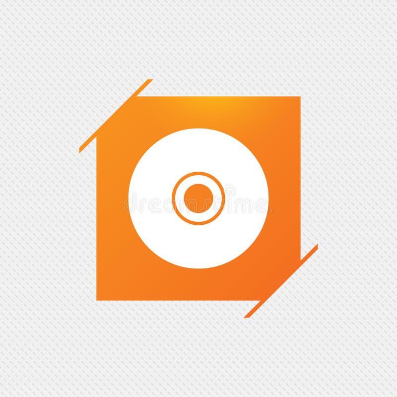 Icône de signe de CD ou de DVD Symbole de disque compact illustration libre de droits
