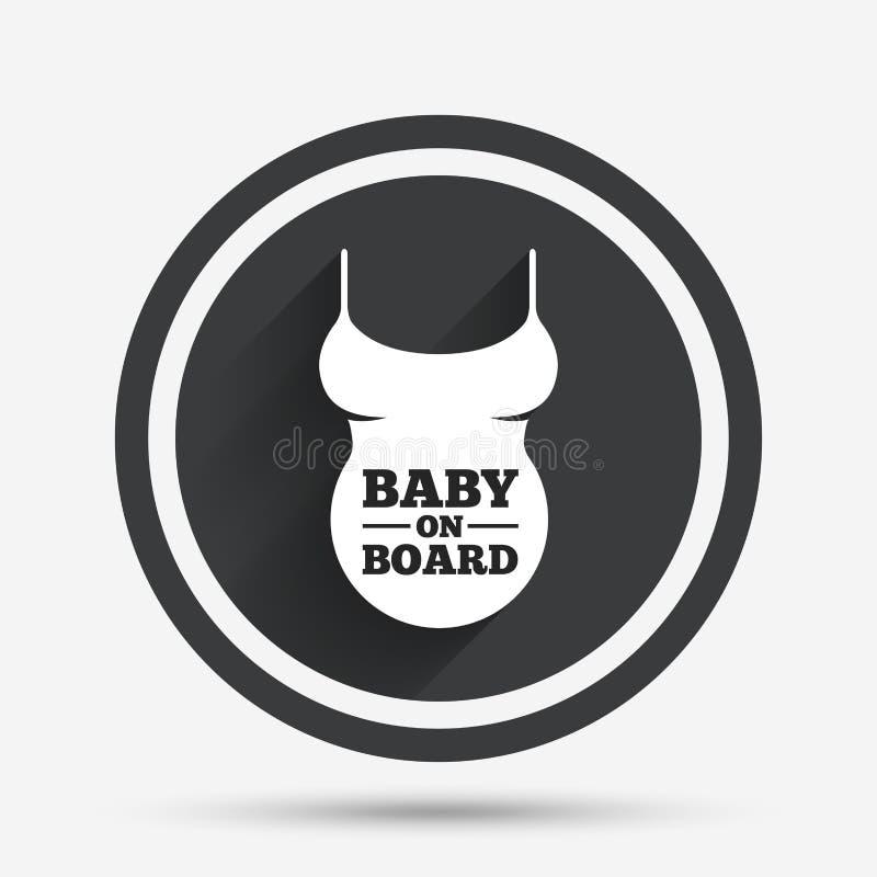 Icône de signe de chemise de femme enceinte Symbole de maternité illustration libre de droits