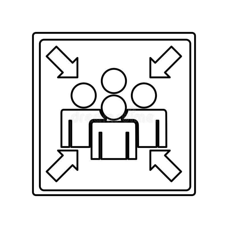 Icône de signe de point de rencontre illustration stock