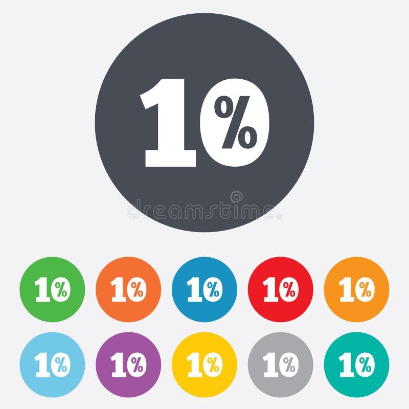 icône de signe de remise de 10 pour cent. Symbole de vente. illustration de vecteur