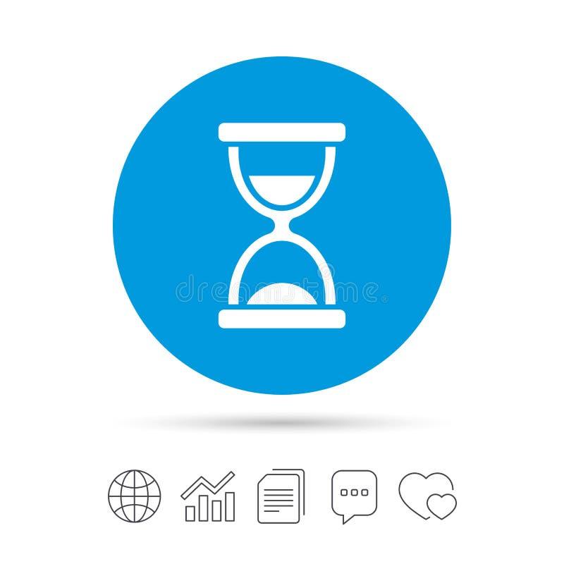 Icône de signe de sablier Symbole de minuterie de sable illustration libre de droits