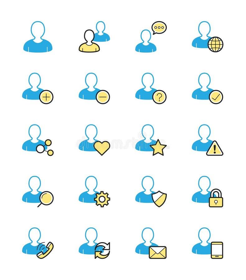 Icône de site Web d'utilisateur, couleur monochrome - dirigez l'illustration illustration stock