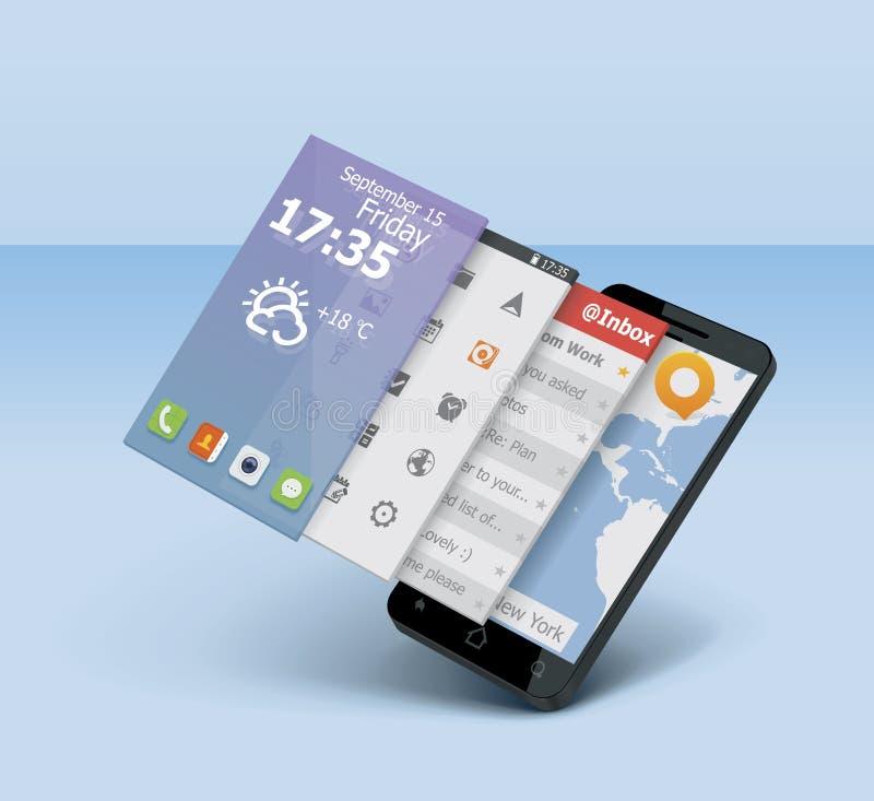 Icône de smartphone de vecteur illustration libre de droits