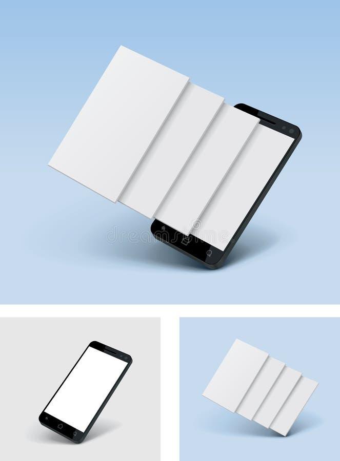 Icône de smartphone de vecteur avec les écrans vides illustration libre de droits