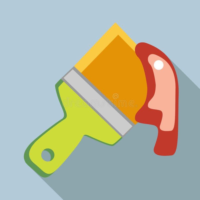 Icône de spatule de construction, style plat illustration stock