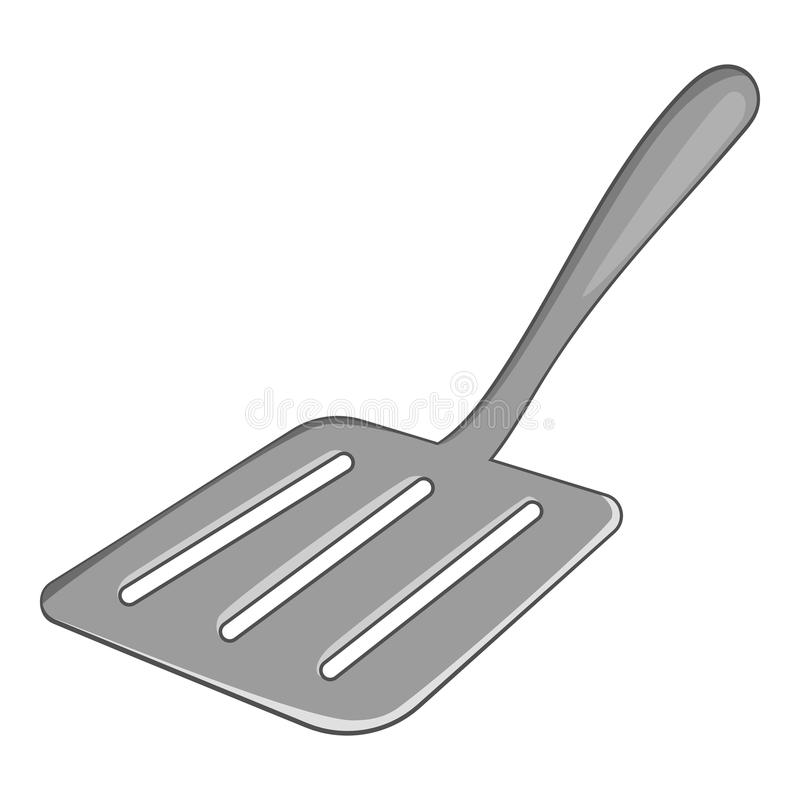 Icône de spatule de cuisine, style de bande dessinée illustration libre de droits