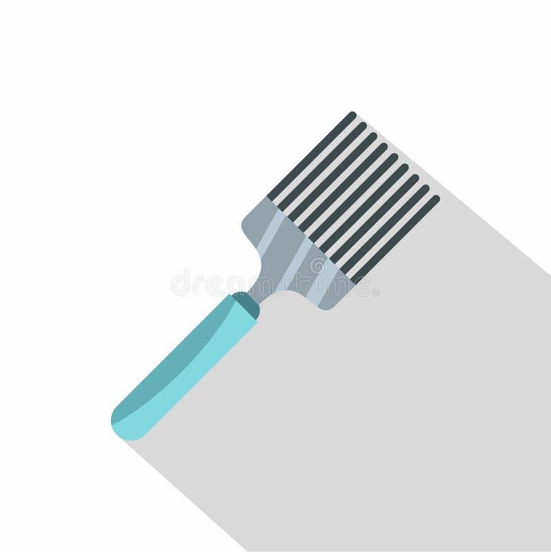 Icône de spatule de cuisine, style plat illustration libre de droits