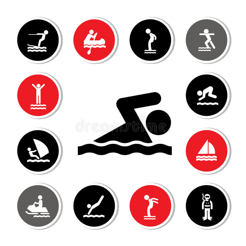 Icône de sport aquatique illustration stock