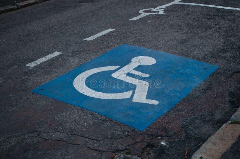 Icône de stationnement de Handicaped photos stock