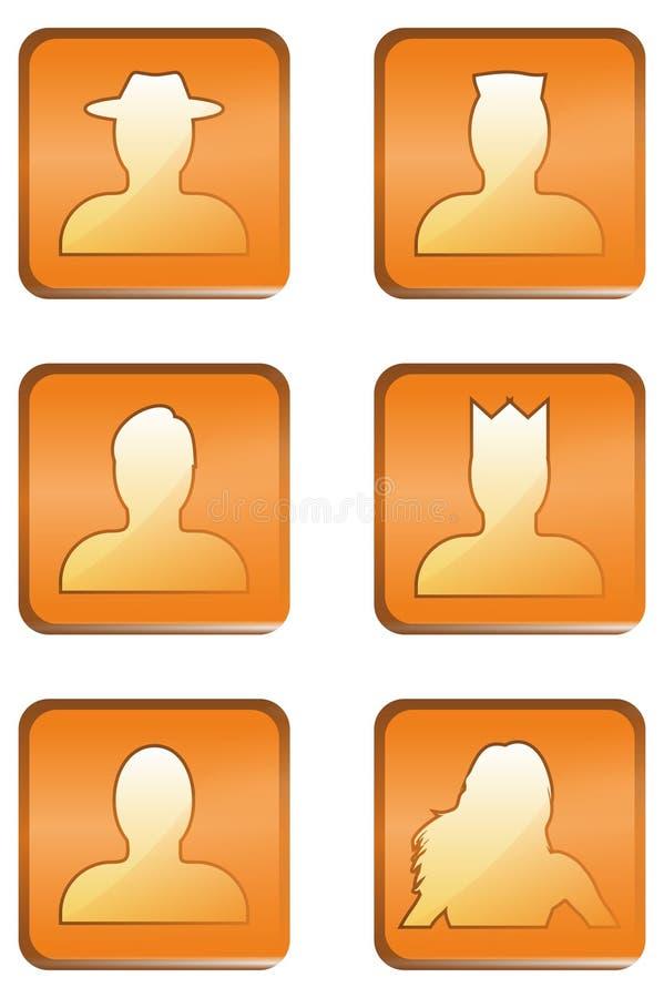 Icône de statut d'utilisateur web illustration de vecteur