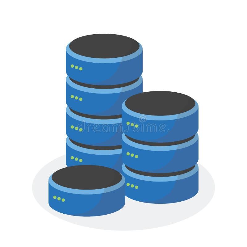Icône de stockage de données avec le stockage bas multi, ESP10 illustration libre de droits