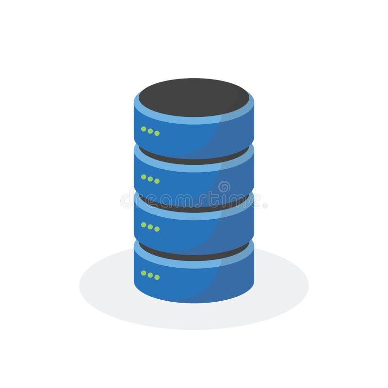 Icône de stockage de données avec le stockage bas simple, ESP10 illustration libre de droits