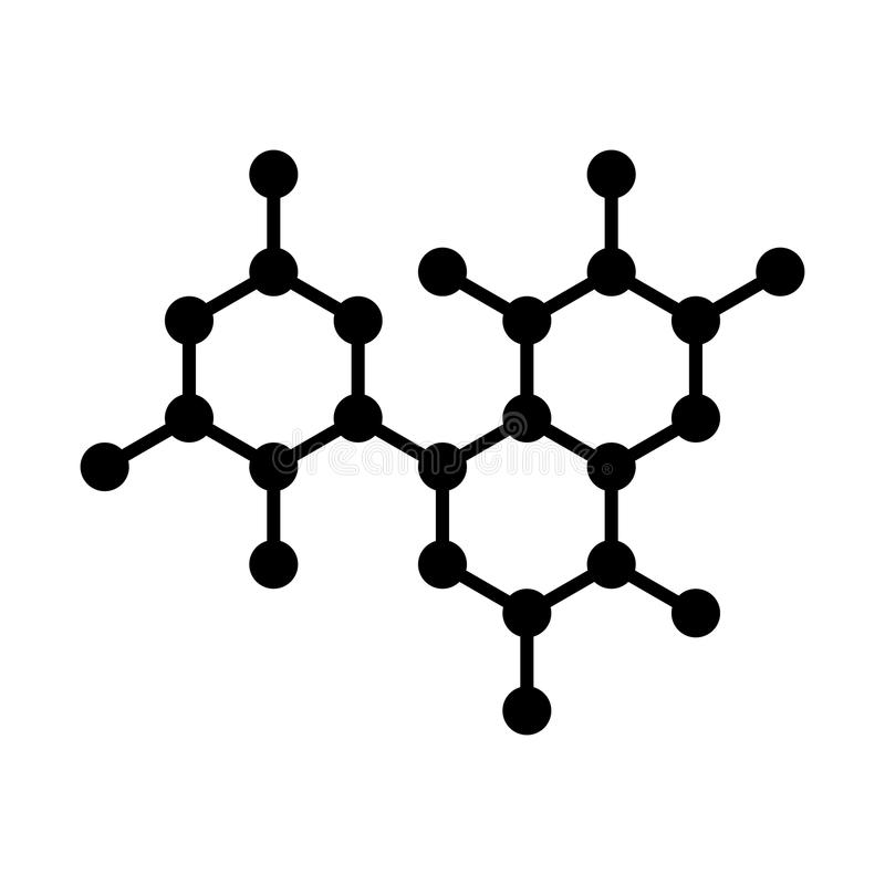 Icône de structure d'ADN de molécule Vecteur illustration libre de droits