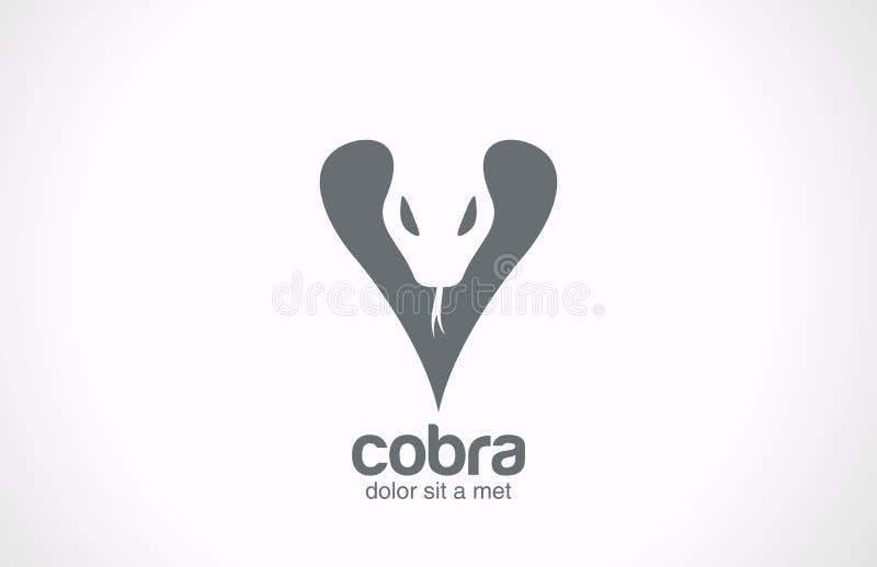 Icône de style de tatouage. Logo De de vecteur de silhouette de cobra illustration libre de droits