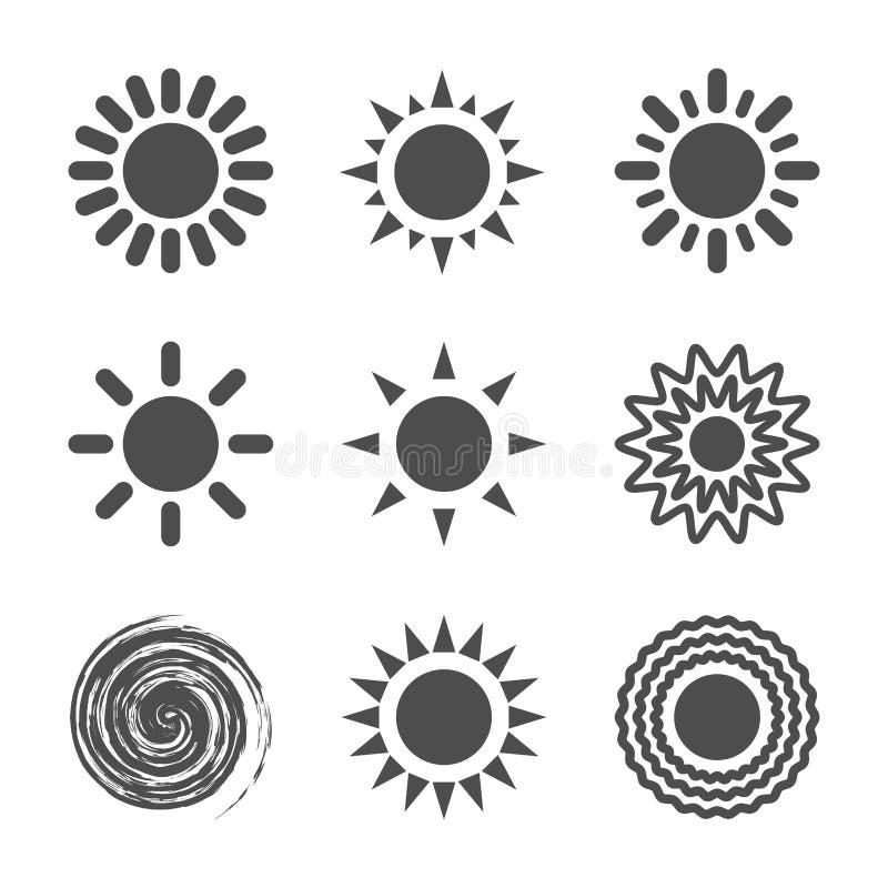 Icône de Sun illustration stock
