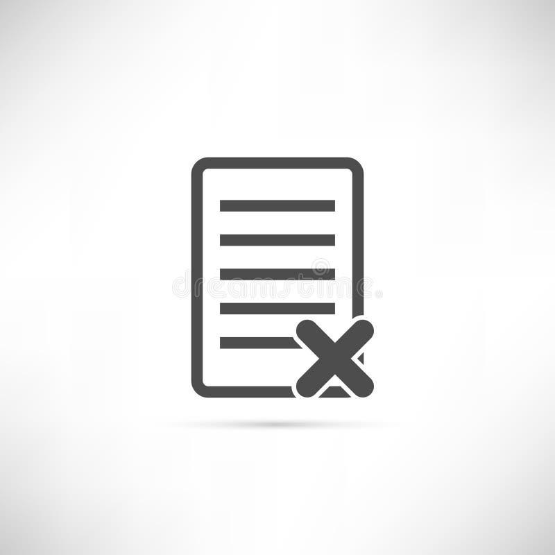 Icône de suppression des textes illustration de vecteur