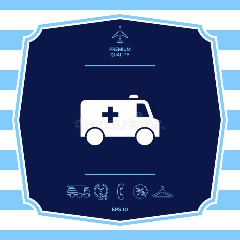 Ic?ne de symbole d'ambulance ?l?ments graphiques pour votre conception illustration stock