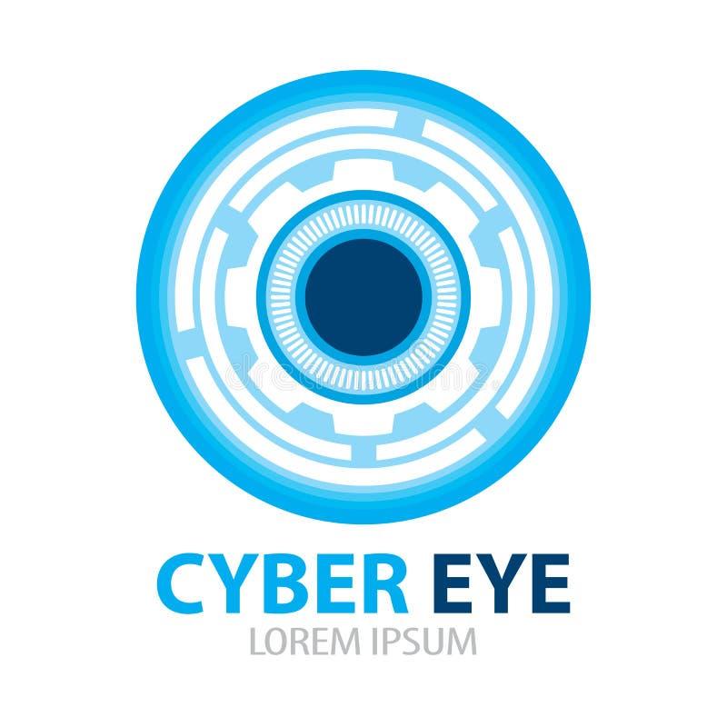 Icône de symbole d'oeil de Cyber illustration de vecteur