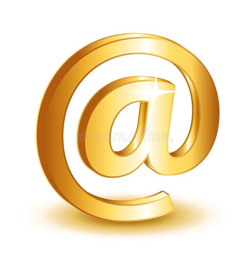 Icône de symbole de contact de courrier illustration libre de droits