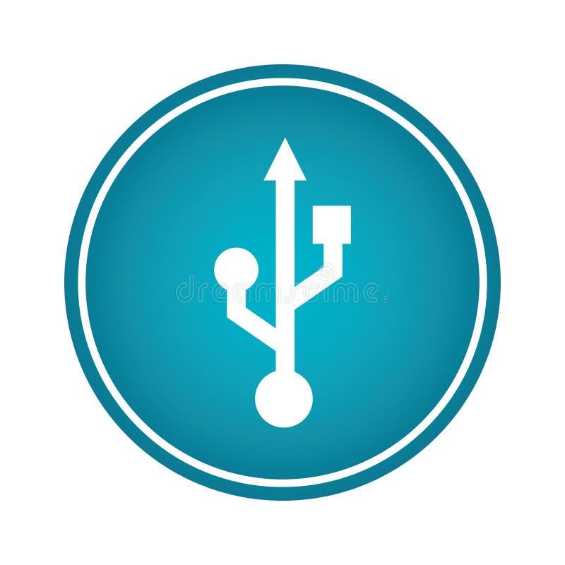 Icône de symbole de flèche d'Usb illustration libre de droits