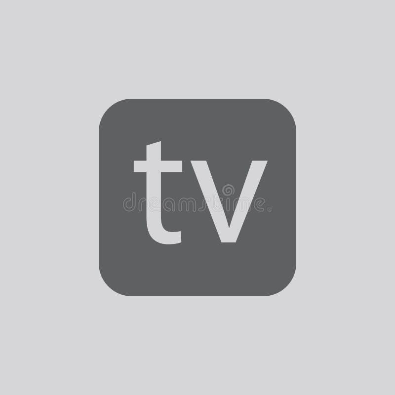Icône de symbole de télévision illustration libre de droits