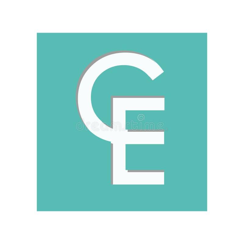 Icône de symbole monétaire d'ECU illustration libre de droits
