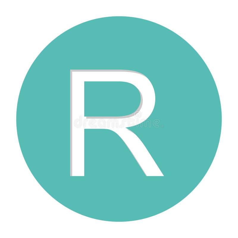 icône de symbole monétaire de couche-point illustration libre de droits