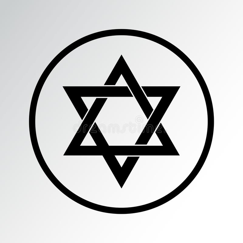 Ic?ne de symbole de religion judaism Illustration de vecteur illustration libre de droits