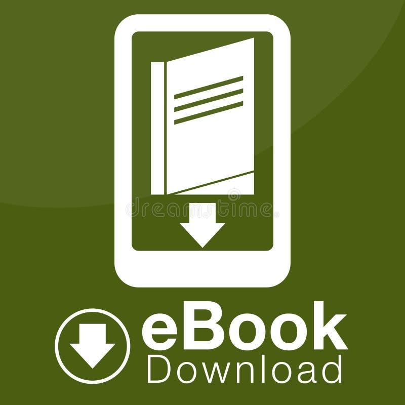 Icône de téléchargement d'EBook illustration stock