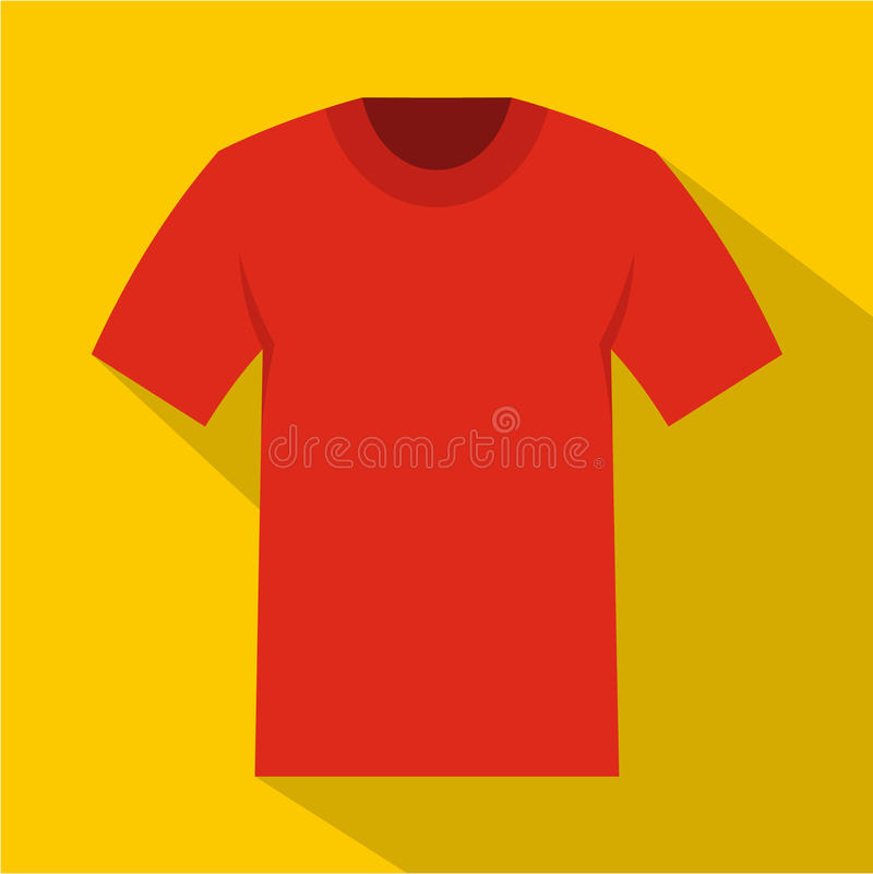 Icône de T-shirt, style plat illustration stock