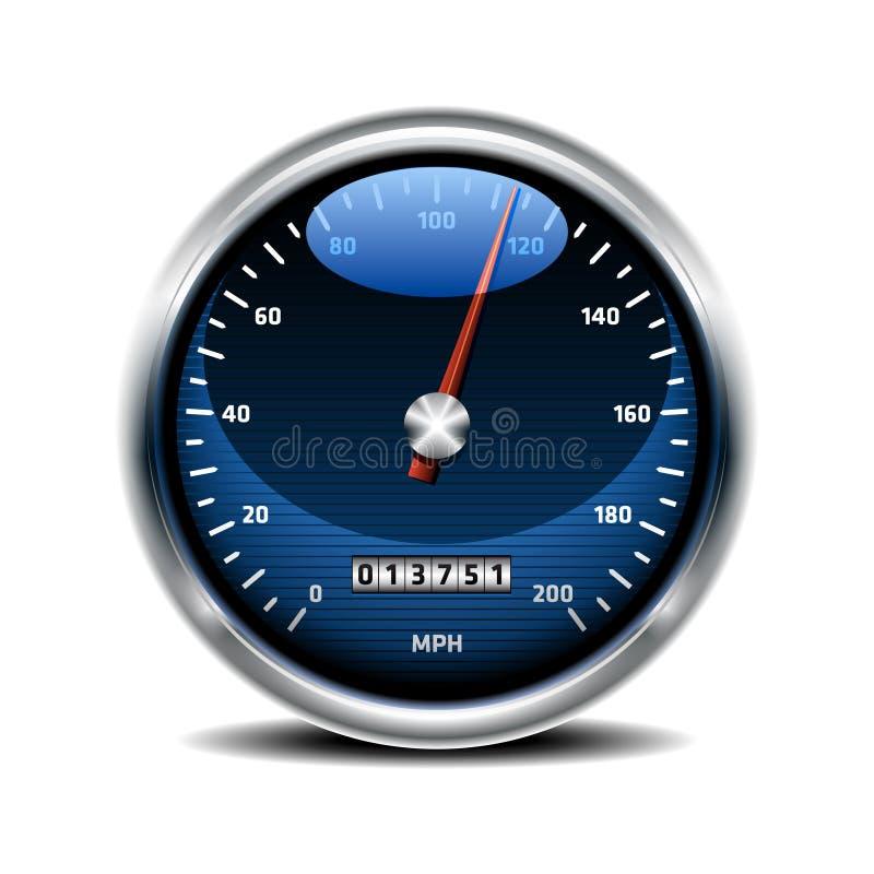 Icône de tachymètre illustration stock