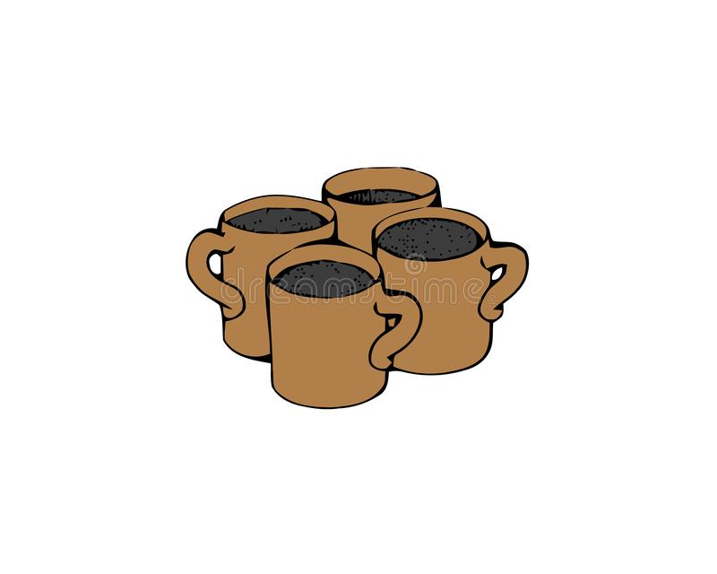 Ic?ne de tasse de caf? Illustration de Web d'actions de symbole de vecteur de boissons de caf? illustration de vecteur
