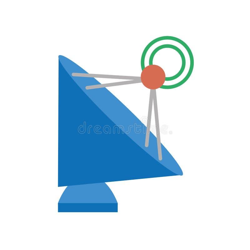 icône de technologie de radar de plat d'antenne illustration stock
