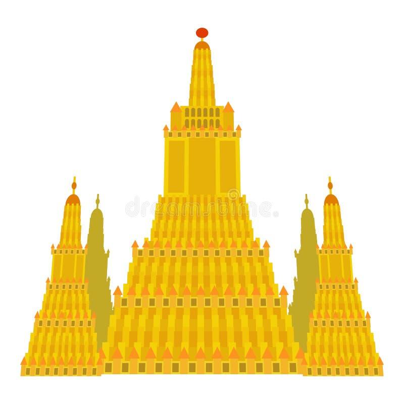 Icône de temple de Virupaksha, style de bande dessinée illustration de vecteur