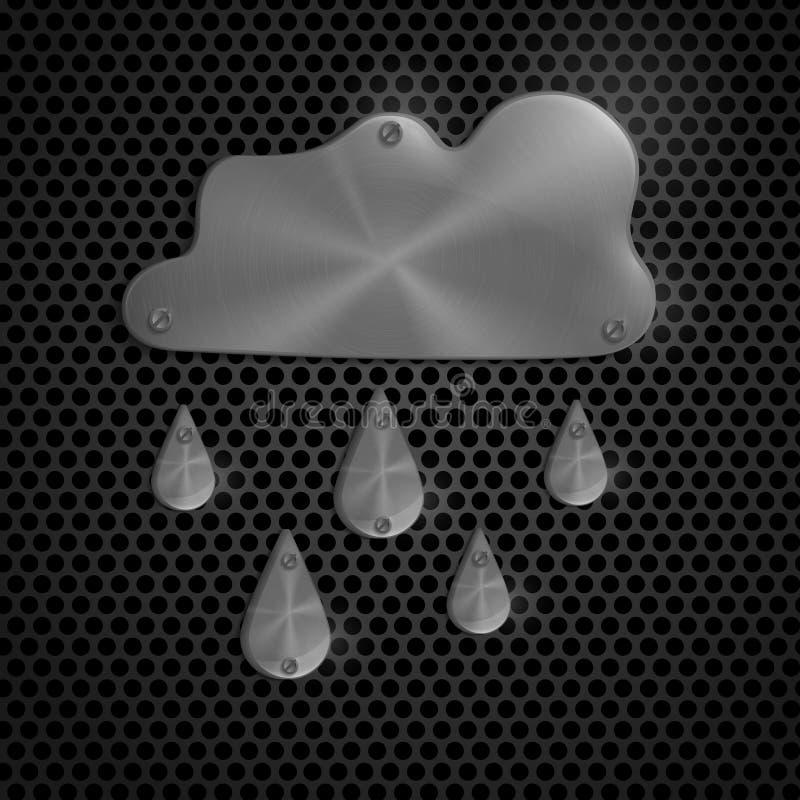 Icône de temps de nuage de pluie illustration libre de droits