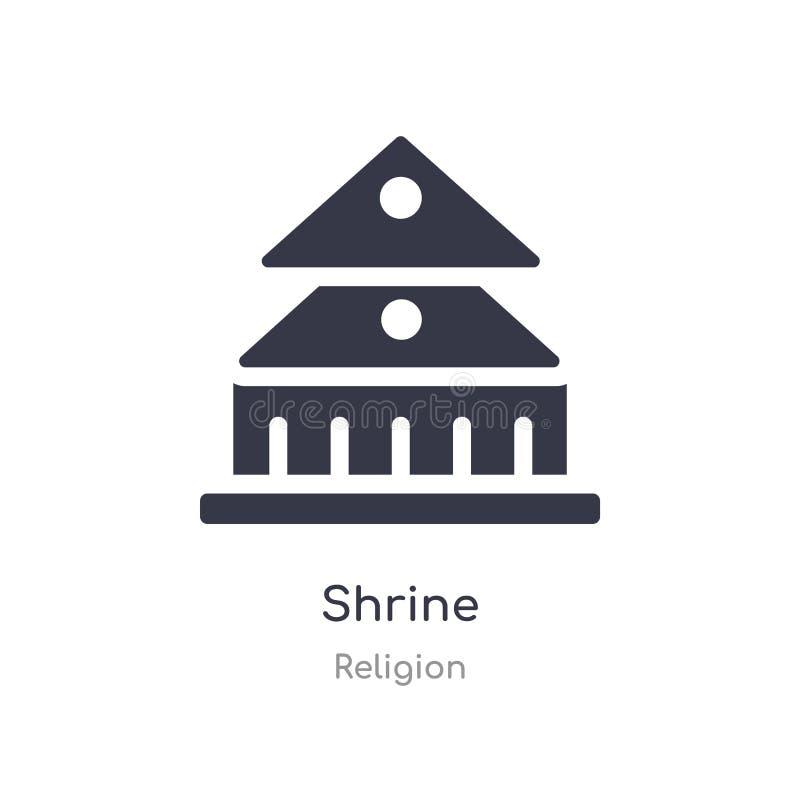 Ic?ne de tombeau illustration d'isolement de vecteur d'icône de tombeau de collection de religion editable chantez le symbole peu illustration de vecteur