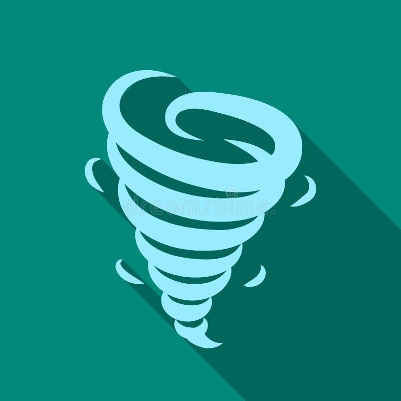 Icône de tornade dans le style plat d'isolement sur le fond blanc Illustration de vecteur d'actions de symbole de temps illustration libre de droits