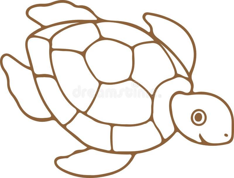 Ic?ne de tortue sur le fond blanc illustration stock
