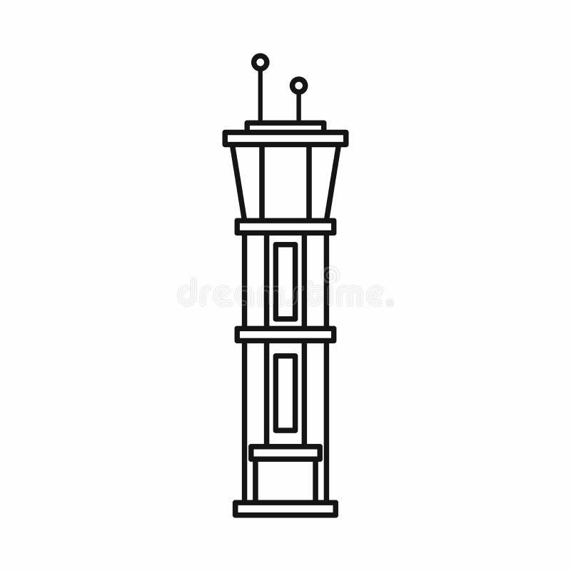 Icône de tour de contrôle d'aéroport, style d'ensemble illustration de vecteur