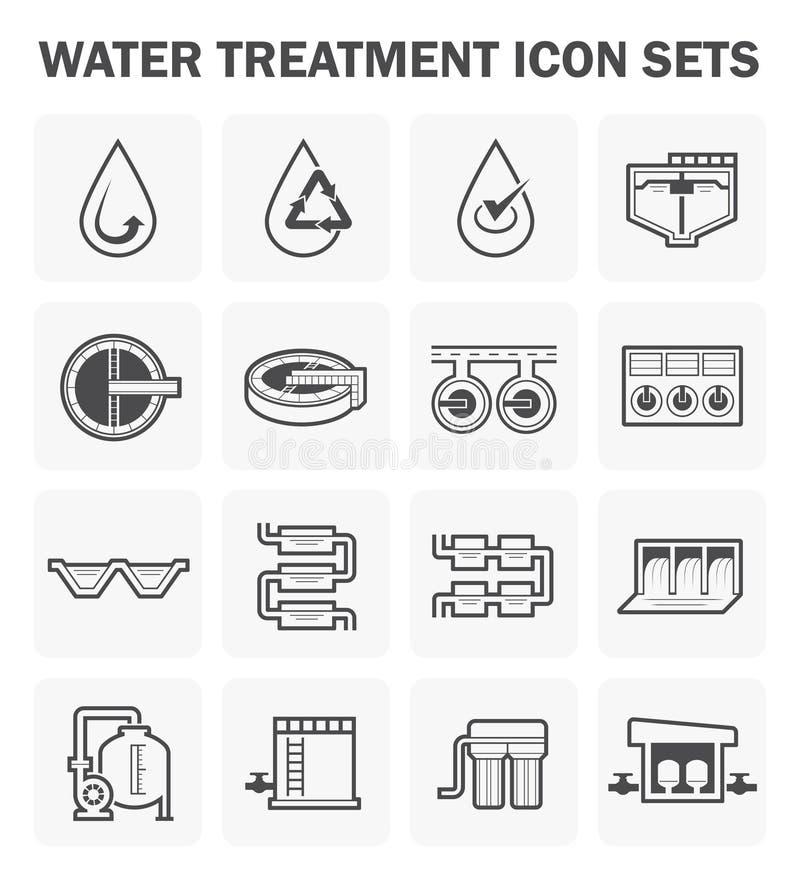 Icône de traitement de l'eau illustration de vecteur