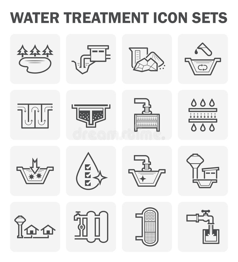Icône de traitement de l'eau illustration stock