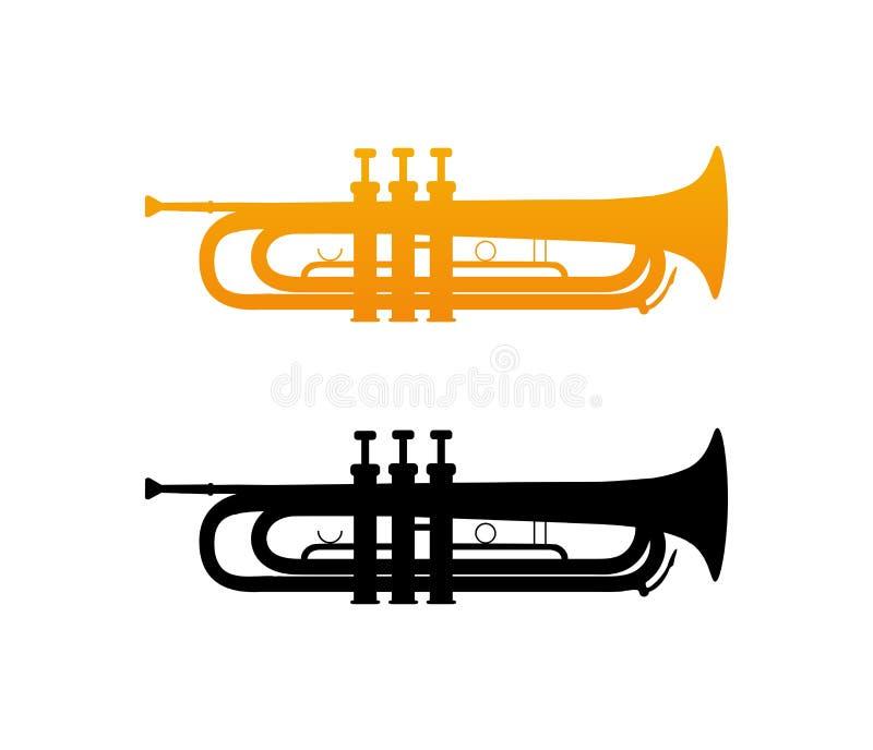 Icône de trompette d'or illustration de vecteur
