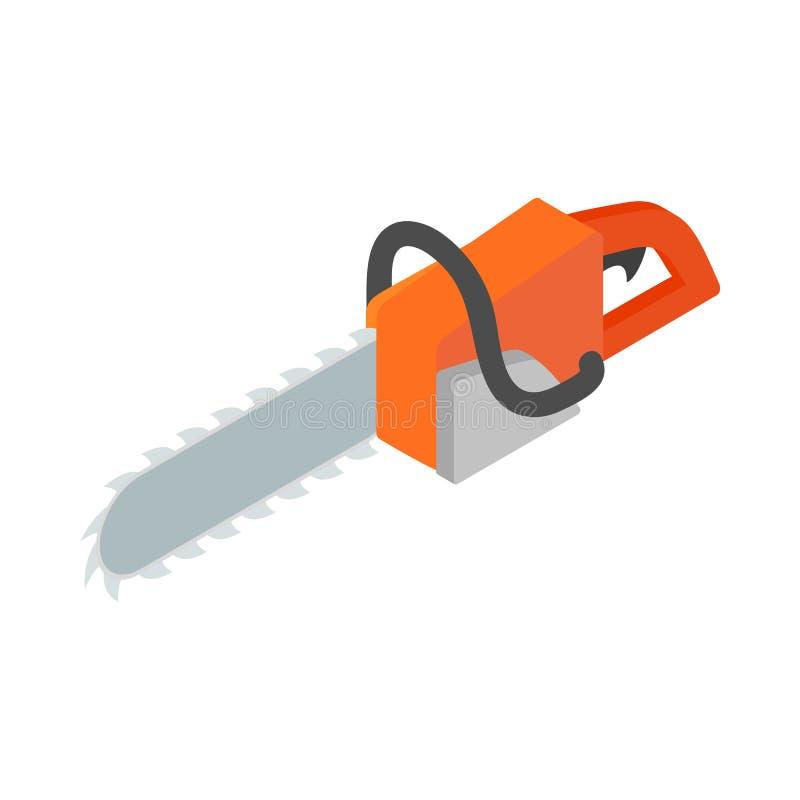 Icône de tronçonneuse, style 3d isométrique illustration libre de droits