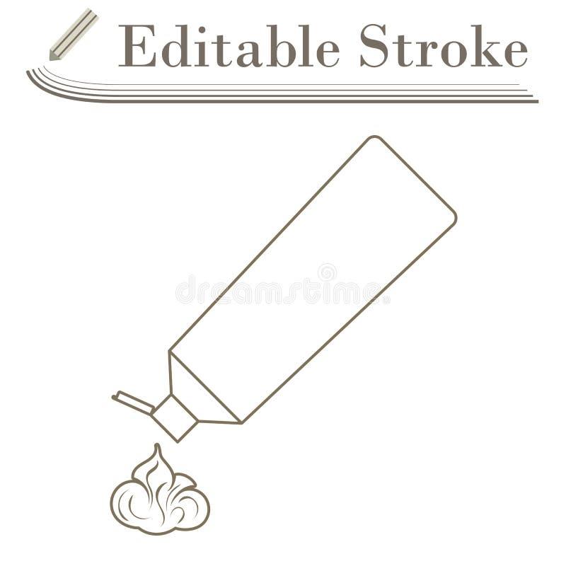 Ic?ne de tube de p?te dentifrice illustration libre de droits