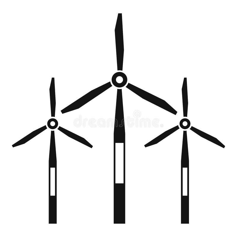 Icône de turbines de générateur de vent, style simple illustration de vecteur