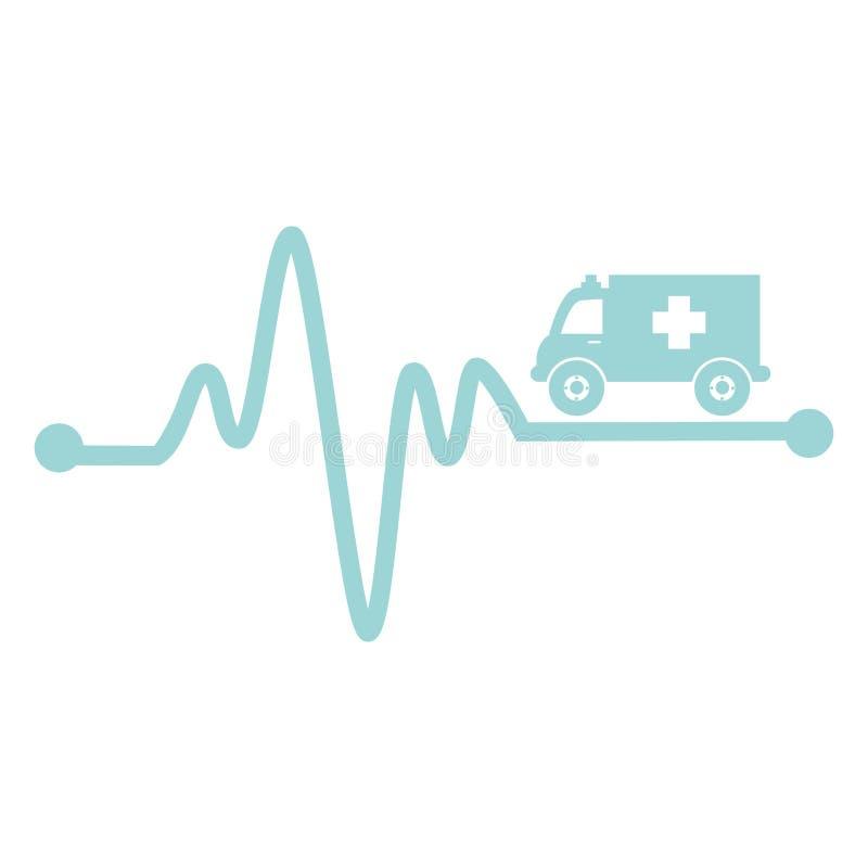icône de véhicule de secours d'ambulance illustration libre de droits