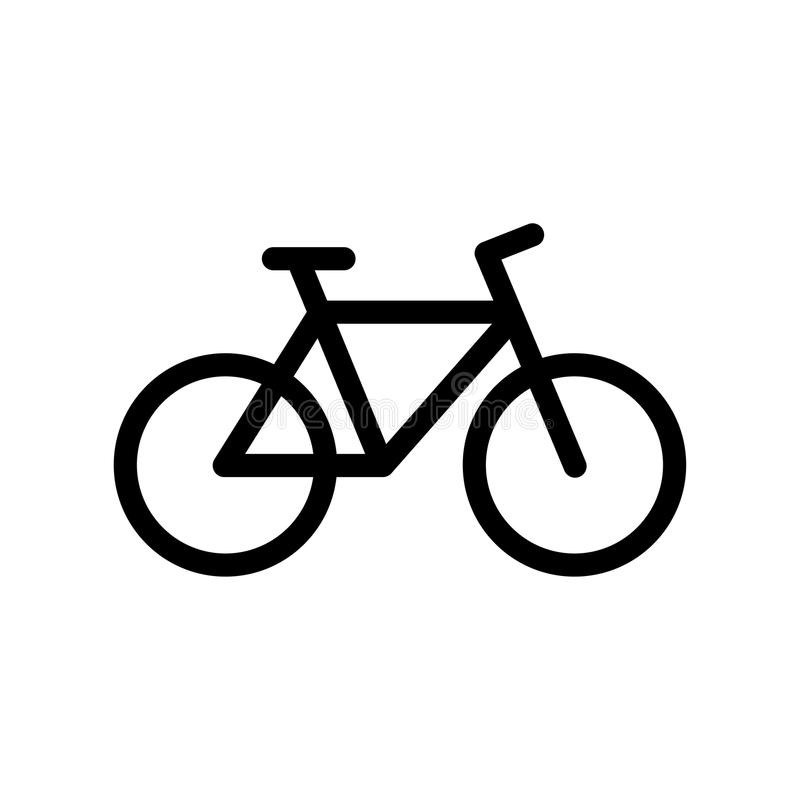 Icône de vélo illustration stock